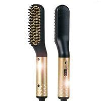 Electric Ionic Beard Straightening Comb Beard Straightener for Mens Heated Brush
