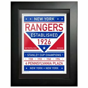 "New York Rangers Franchise Composite Photo Sign (Size: 14"" x 18"") Framed"