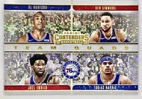 2019-2020 Panini Contenders Ben Simmons Sparkle Prizm Team Squad 76ers 🔥📈