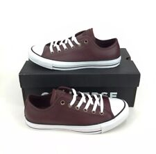 NEW Converse Chuck Taylor All Star Ox Brown Leather Womens Shoes Sneakers Size 9