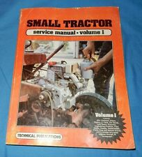 Small Tractor (Repair) Service Manual Volume 1, 1984 Paperback Index Picture