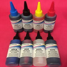 8X100ML DYE REFILL PRINTER INK BOTTLES FOR EPSON STYLUS PHOTO R800 R1800
