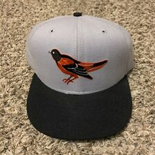 Vintage 80s 90s New Era Mlb Baseball Baltimore Orioles Wool Fitted Hat Sz 7 1/2