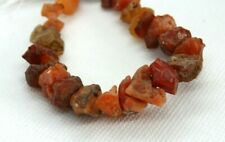 80cts Fire Opal Graduated Rough Nuggets approx 6x3 - 15x7mm, 16cm strand