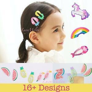kids hair clips girls toddler pin hair pretty unicorn hairpin baby infant cute