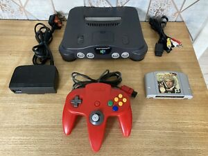 Nintendo 64 Console Bundle With Official Red Controller & GoldenEye Game - N64