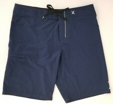 "Hurley Phantom Board/Swim Shorts Men's 20/21"" Length Sz 34 L/XL Blue No lining"