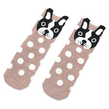 Funny Cartoon Dogs Polka Dot Small Ears Socks Women Warm Cotton Socks Creative