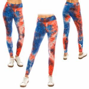 Women's Tie Dye High Waist Ultra Soft Premium Yoga Pants Leggings *Free shipping