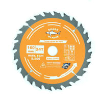 Shark Blades 160mm x 24T TCT Cordless Circular saw Blade for DeWalt Makita ETC