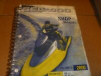OEM 2000 SeaDoo Service Shop Repair Manual Vol 2 RX RX-Di GTX-Di 219100110