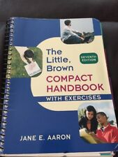 The Little Brown Compact Handbook With Exercises seventh edition 9780205651702