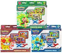 Kalos XY Pokemon Cards Starter Deck Set w/ 3 Legendary Treasures Booster Packs