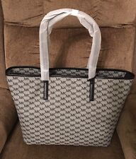 NWT! MICHAEL KORS Studio Emry Large Logo Tote Bag Purse Black/ Gray $328