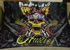 New Hustler Skull & Guns Gift Plush Fleece Throw Blanket Hardcore Magazine SOFT