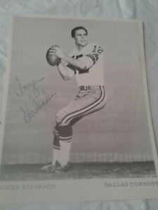 ROGER STAUBACH Signed Photo Autographed 5x6.5 NFL FOOTBALL Dallas Cowboys #1