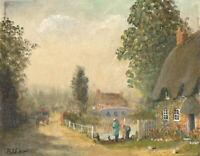 Bernard Shaw - Signed 20th Century Oil, Country Lane, Ringwood