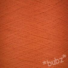 Rouille 2/30s Machine À Tricot Fil 1,000 g Cônes 1 2 Plis laceweight Bouteille Orange Foncé