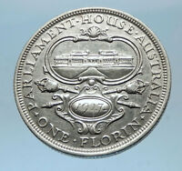 1927 AUSTRALIA - OLD PARLIAMENT HOUSE Silver Florin UK King George V Coin i68603