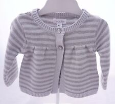 Brioche veste manche longue grise rayée pailletée bébé fille 1 mois