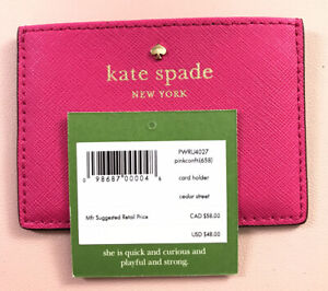 NWT Kate Spade Card Case Pink Retails $48