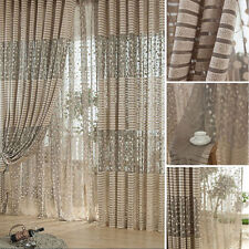 Fashion Leaf Tulle Door Window Curtain Drape Panel Sheer Scarf Valances  FJ