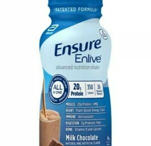 Ensure Enlive Milk Chocolate Nutrition Shake, Ready to Use, 8oz Bottles, 18 ct.
