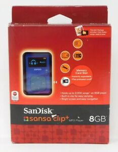 SanDisk Sansa Clip+ Plus 8GB MP3 Player Blue QVC Package 1000 Oldies
