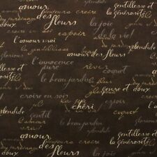 WAVERLY FRENCH SCRIPT BROWN DESIGNER COTTON MULTIPURPOSE FABRIC BY YARD 54 W Waverly Ikat Craft Fabrics  eBay