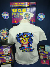 Vintage 1996 Joe CAMEL Big Vegas, Groove Blender, SS TSHIRT. NEW No Box. Sz XL.