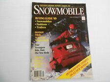 Snowmobile magazine 1989 Buyers Guide issue Polaris Indy Yamaha Exciter Ski-Doo