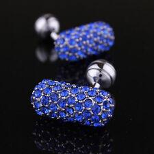 Azul gemelos completo Cristal NOVEDAD Esférica empresa Gemelos Para Boda