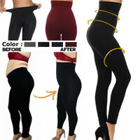 Women Winter High Waist Tummy  Compression Body Shaper Fleece Leggings