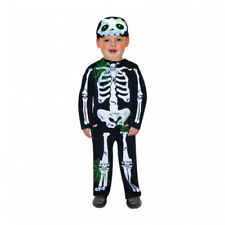 Childs Toddler Skeleton Halloween Fancy Dress Outfit Costume - Age 2-3 Years