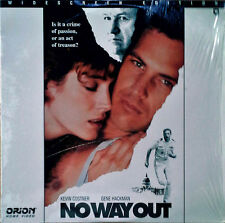 NO WAY OUT - KEVIN COSTNER, GENE HACKMAN - ORION HOME VIDEO - LASER DISC