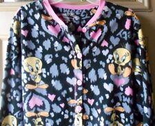 Tweety Bird Looney Tunes 1 PC Footed Pajamas Leopard Hearts M or L NWT LASTONES