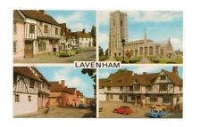 Suffolk - Lavenham - Multiview Postcard Franked 1984