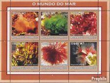 Mosambik 2614-2619 Velletje postfris MNH 2002 Wereld van Marine