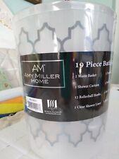 Bathroom Set-19 piece Amy Miller Home Nwt-Shower curtain set, Wastebasket, etc.