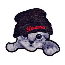 Lindo Gato Parche Bordado Paño Para Sombreros Ropa Bolsa  Insignia Apliques