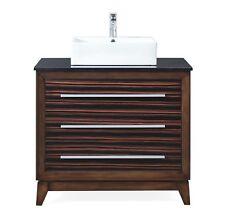 "36"" Tennant Brand Stoughton Vessel Sink Brown Stripe Bathroom Vanity Tb-9203-V36"