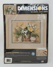 Dimensions Cross Stitch No Count Kit Garden Gathering by Barbara Mock 39022 New