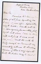 CHELTENHAM Letter from Bafford House at Charlton Kings c1870