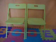 1-Samsonite Kid's Safety Pinch-Free Folding Chair Yellow Daycare Child Children