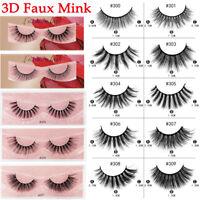1Pair Volume 3D Faux Mink False Eyelashes Multilayer Lash Extension Fake Eyelash