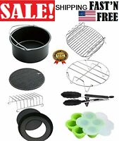 XL Air Fryer Accessories 8 Inch for Set of 8, Fit all 5.3QT - 5.8QT and UP 8 pcs