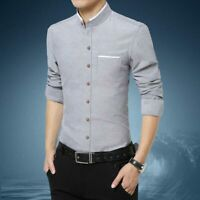 Long Sleeve Luxury Men's Business Casual Dress Shirts Fashion Stylish Slim Fit