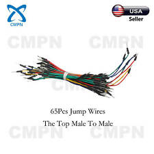 65Pcs Solderless Breadboard Jumper Cables Wires Male to Male For Arduino Shield