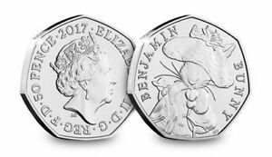 50p Coin 2017 Benjamin Bunny Beatrix Potter FREEPOST