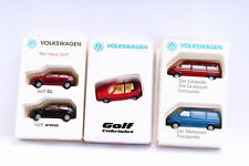 Wiking Promo VW Golf Transporter and Caravelle Car Sets 5 Pcs. 1:87
